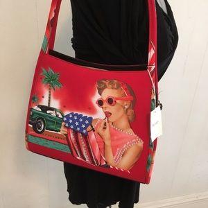 Handbags - NWT Retro Embellished Tote Handbag